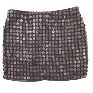Alice + Olivia Silk Black Little Mini Skirt Y50